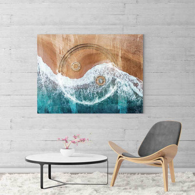 Yin Yang Beach Canvas