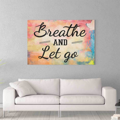 Breathe and Let Go II Canvas