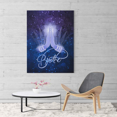 Namaste Breathe Canvas