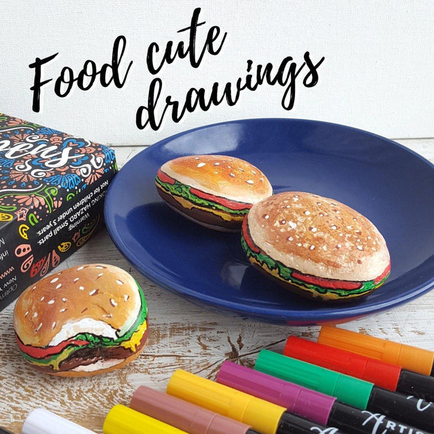 21 Creative Painting Ideas for Your Food Cute Drawings | Artistro