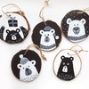 Wood Slice Painting Tutorial: Cute Bear Crafts for New Year Tree | Artistro