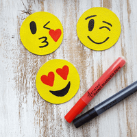 Emoji Leather Coasters DIY Step by Step Guide from Artistro | Artistro
