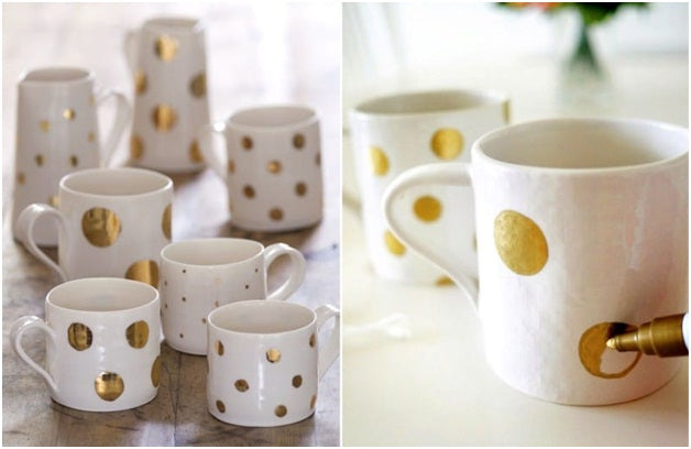 how to paint coffee mugs permanently