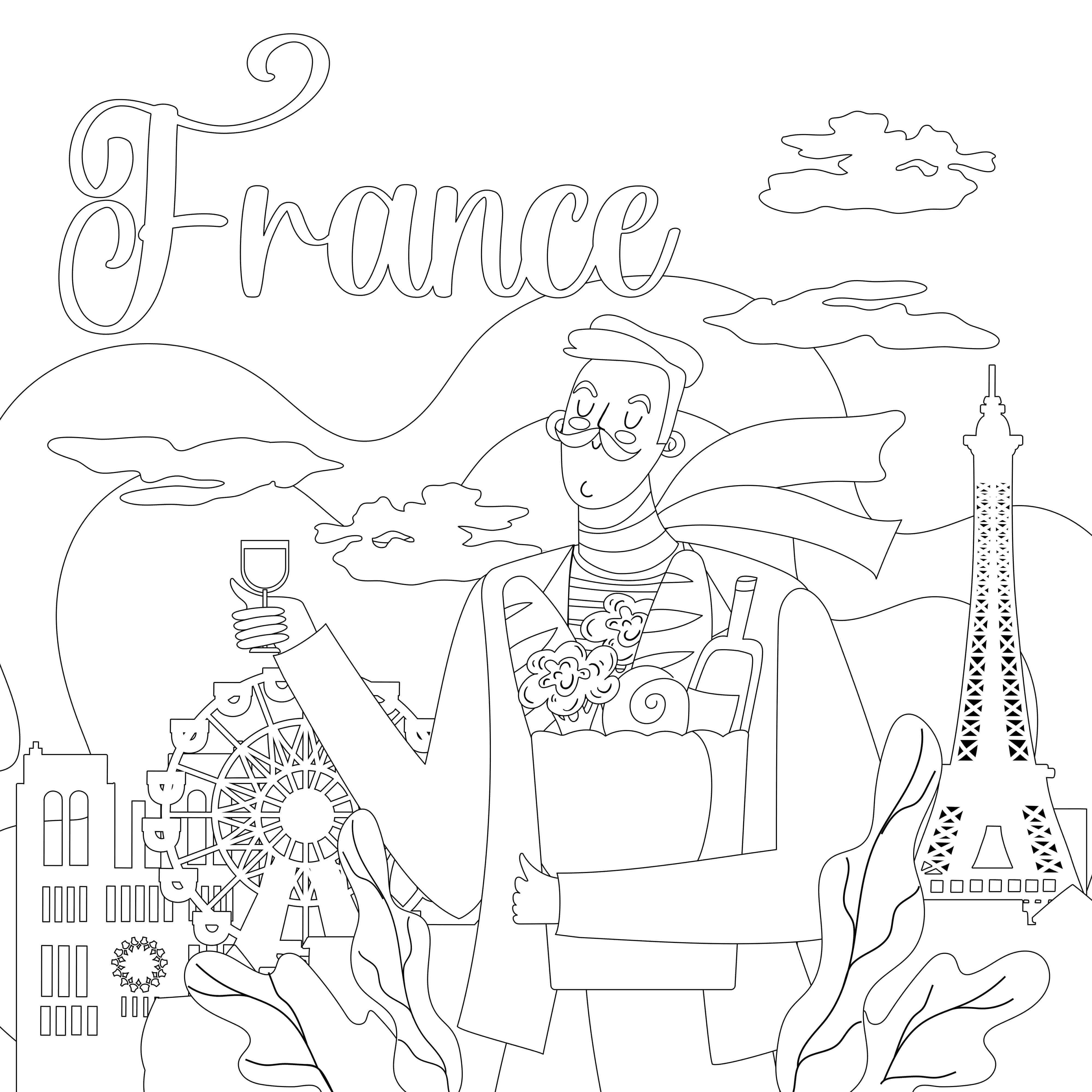 French Tour free coloring pages to print
