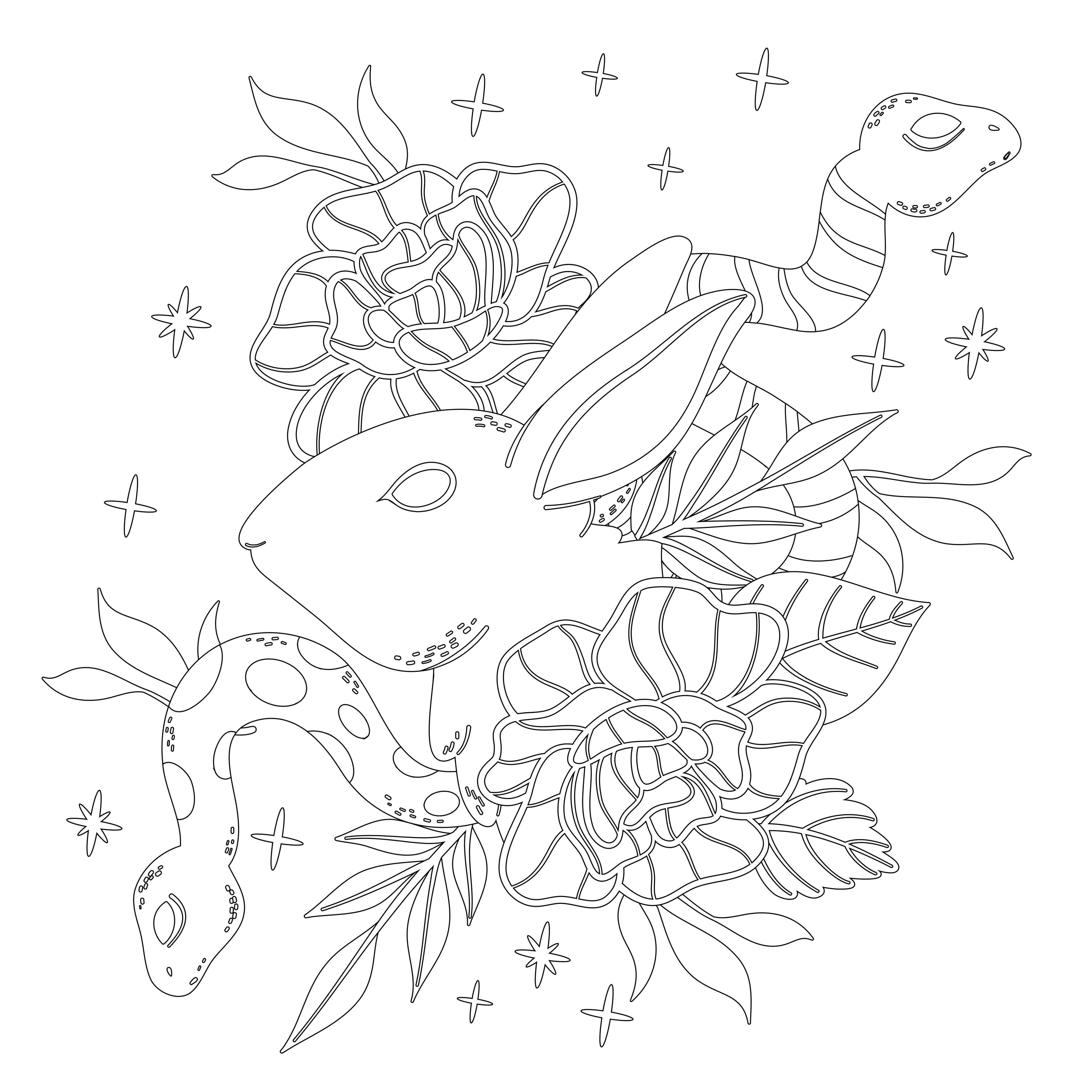 Snake Eyes coloring pages for adults