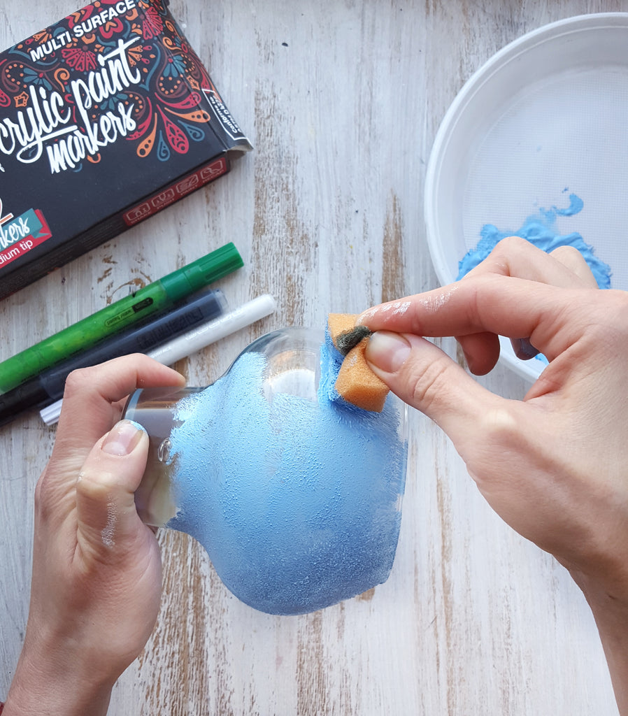 how to paint glass jar