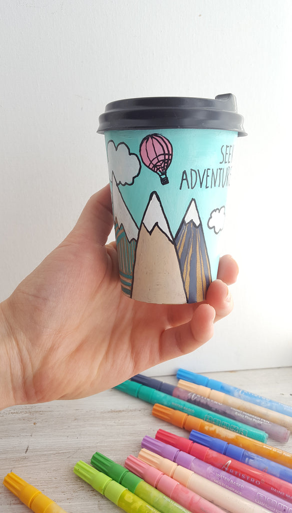 coffee paper cup painting ideas