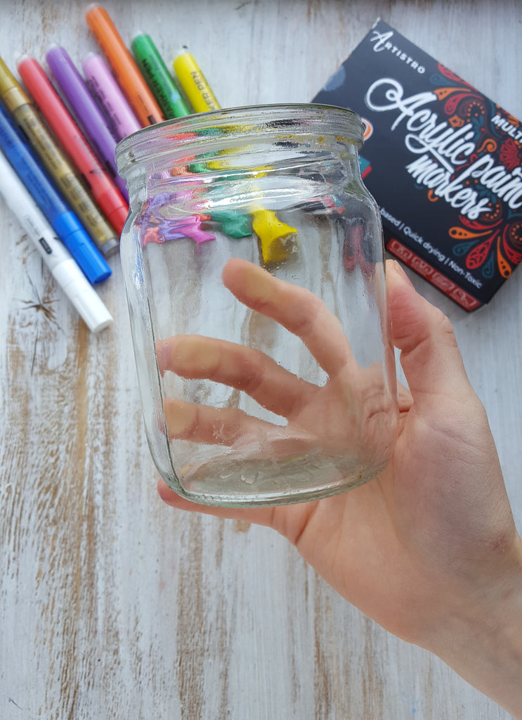 glass jar for painting