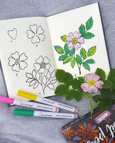 flower painting tutorial