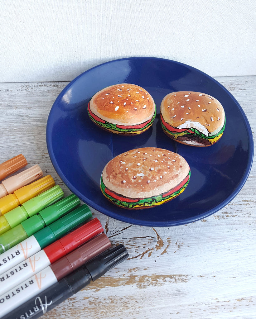 hamburger painted rocks