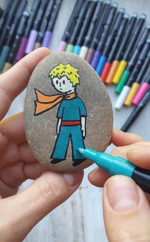 Little Prince painted on stone