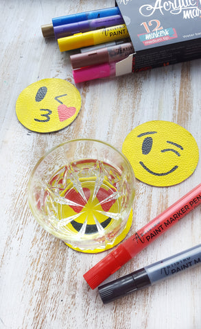 emoji coasters diy