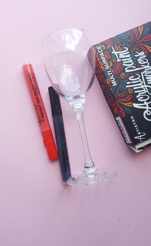 wine glass for painting