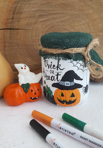 diy halloween glass jar