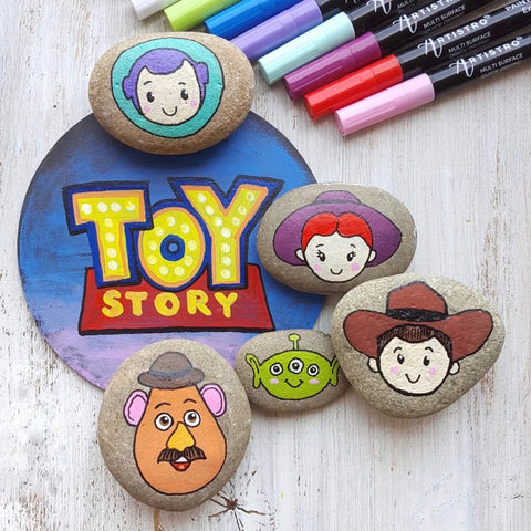 toy story easy rock painting
