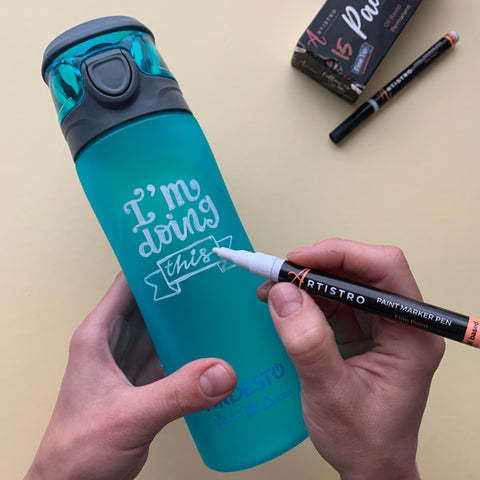 painting a water bottle - step 4