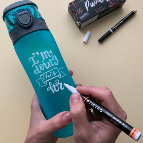 painting a water bottle - step 5