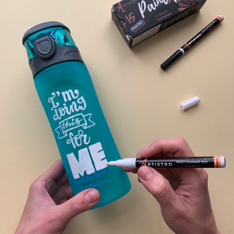 painting a water bottle - step 6