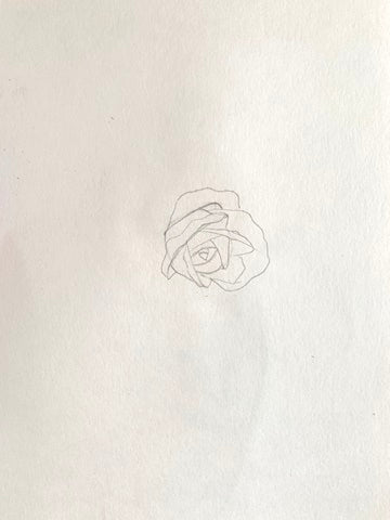 how to draw a rose with pencil step by step