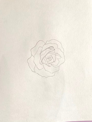 how to draw a rose step by step with pencil slow and easy