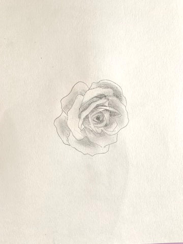 how to draw a realistic rose step by step