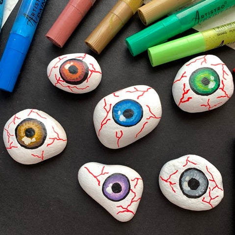 Snake eyes of Death Rock Painting ideas