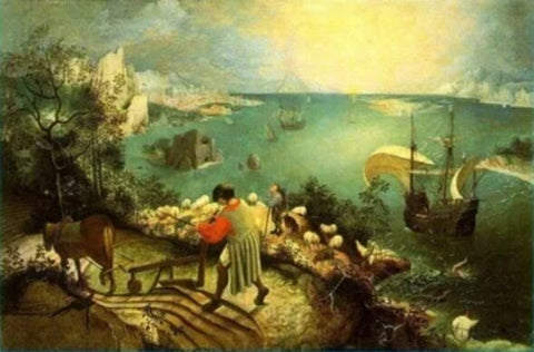 Landscape with the Fall of Icarus by Pieter Bruegel the Elder (1560)