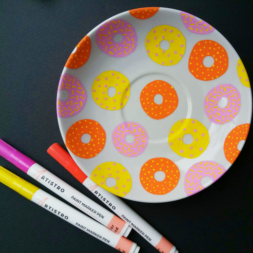 donut painted plate
