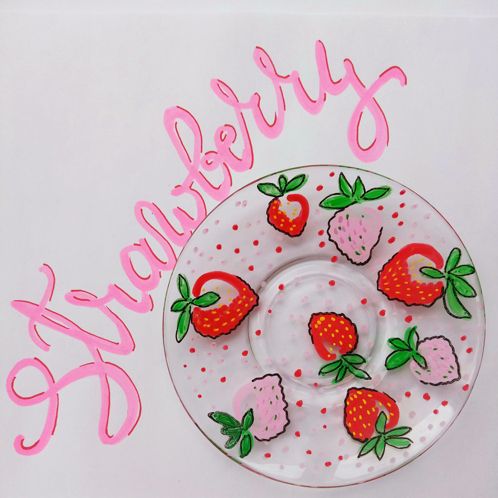strawberry plate painting