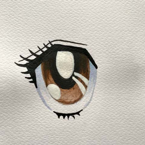 drawing anime eyes step by step-squinting anime eyes