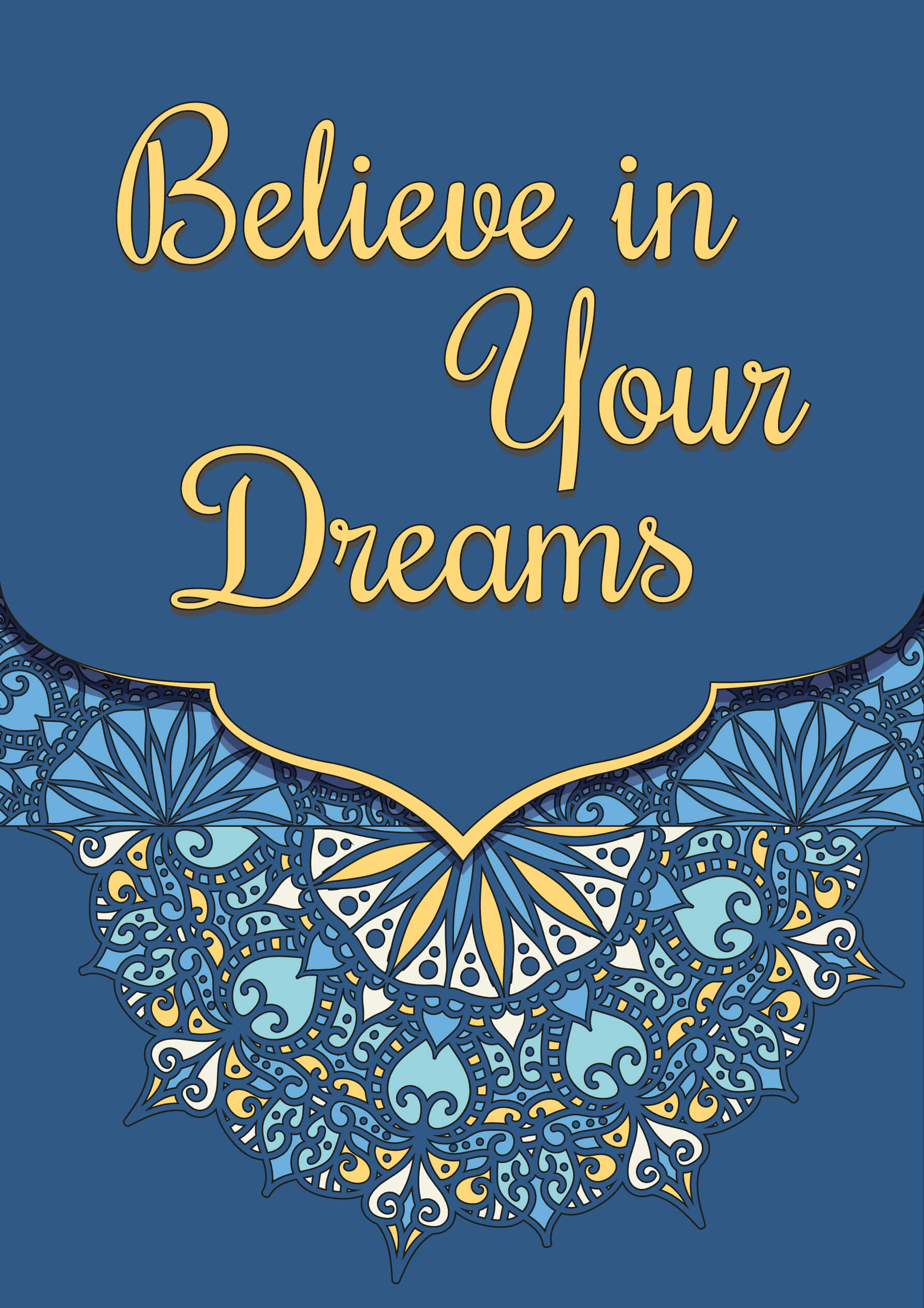 Dream Big colored free coloring pages to print