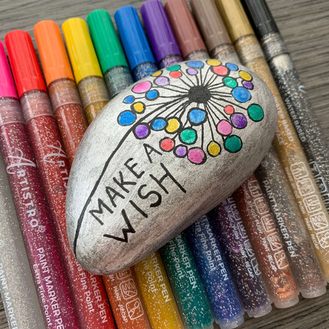 Dream-fulfilling make a wish Rock Painting ideas