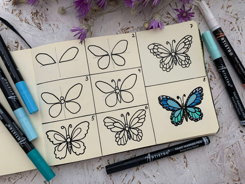 Drawing Tutorial Butterfly