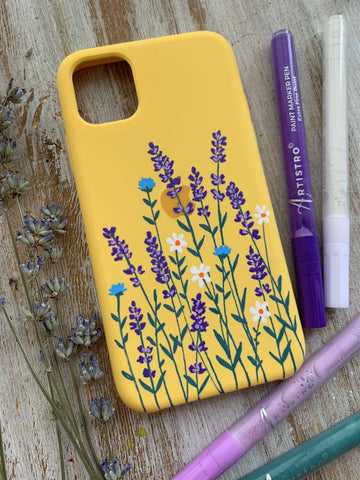 paint iphone cases- Galaxy phone case painting ideas