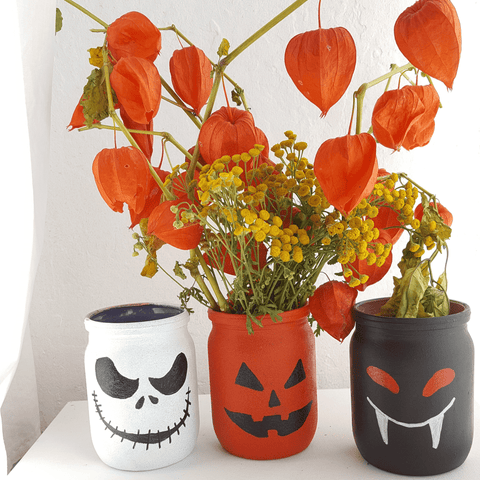 Glass painting halloween design