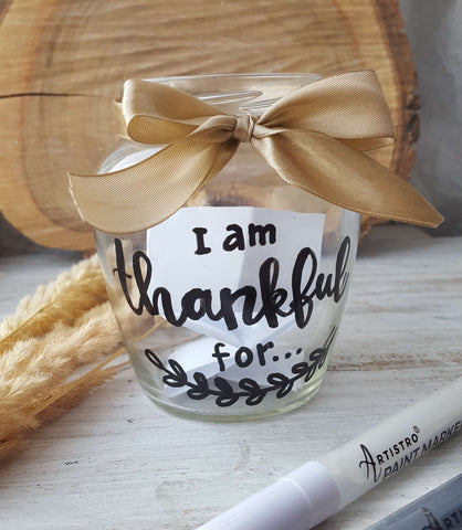 painted glass for thank