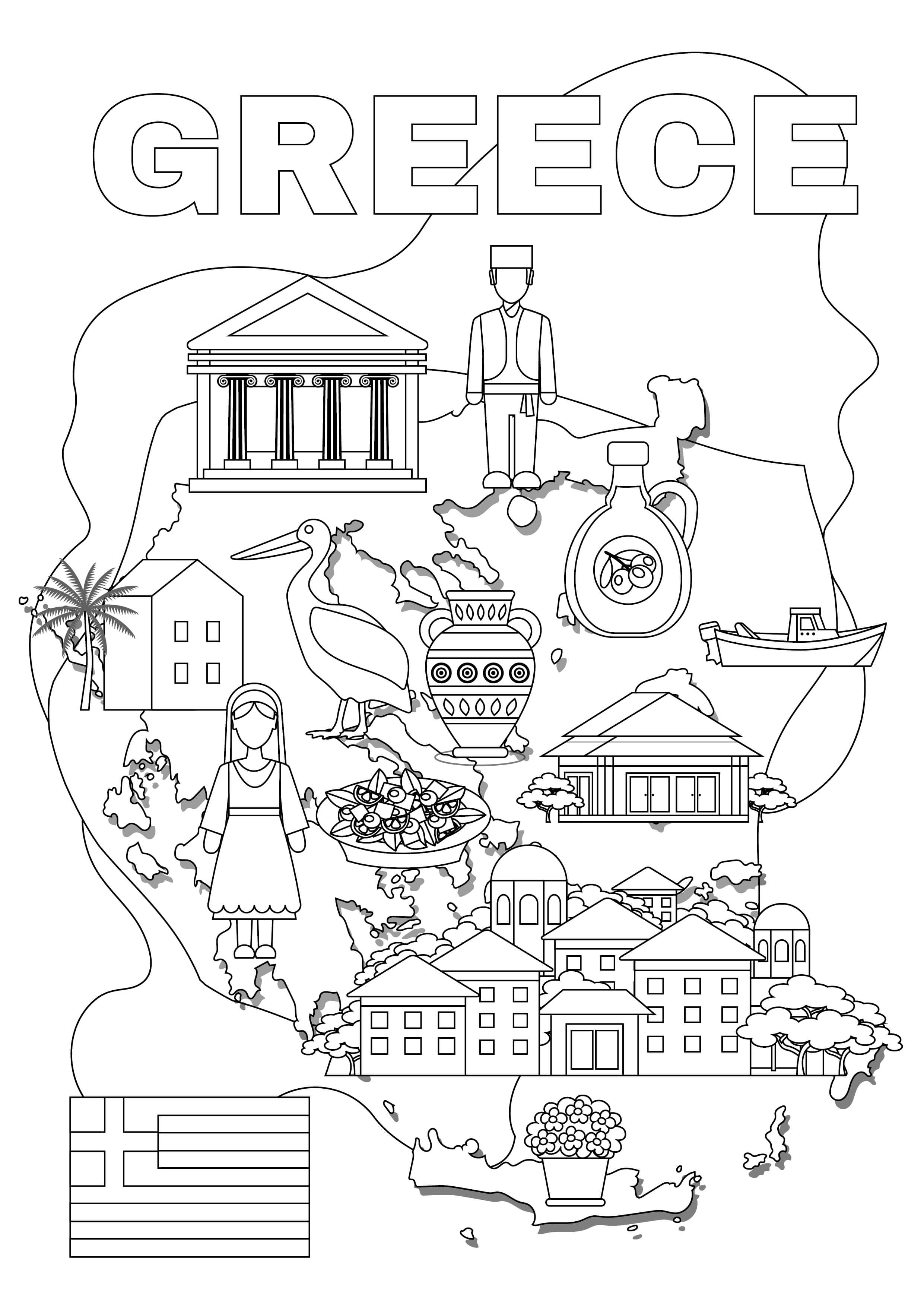 Greek Tour coloring pages for adults