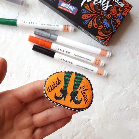 Witchcraft Rock Painting ideas
