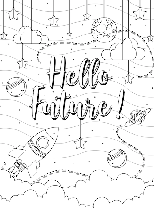Outer Space free coloring pages to print