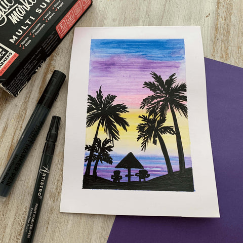 Planning a vacation drawing-things to draw
