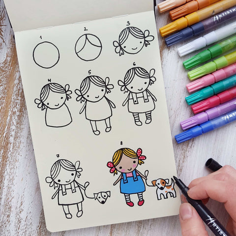 Comprehending Japanese chibi technique drawing-what to draw when bored