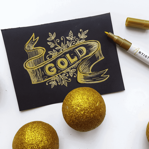 gold drawing