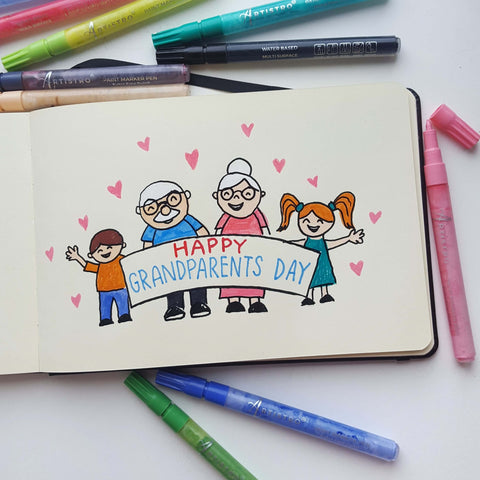 family reunion drawing-things to draw when bored