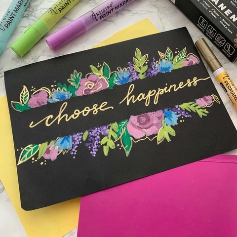 Choose happiness, choose Lettering drawing-things to draw