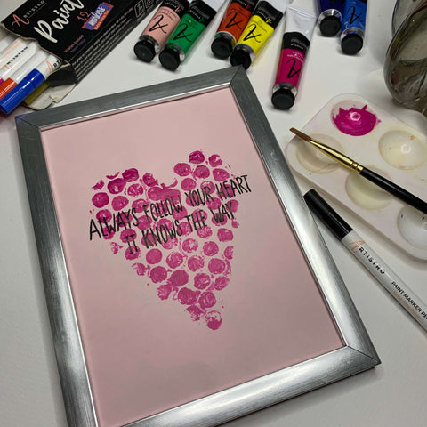 heart dots painting