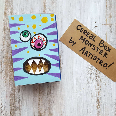 Yummi monster lunch box drawing-things to draw