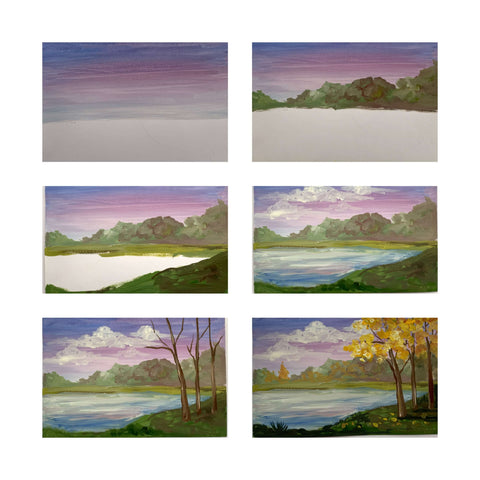 autumn landscape painting-things to draw