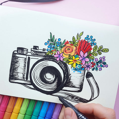 Photographing memories drawing