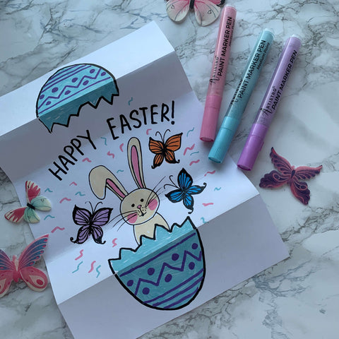 Meeting the Easter rabbit drawing