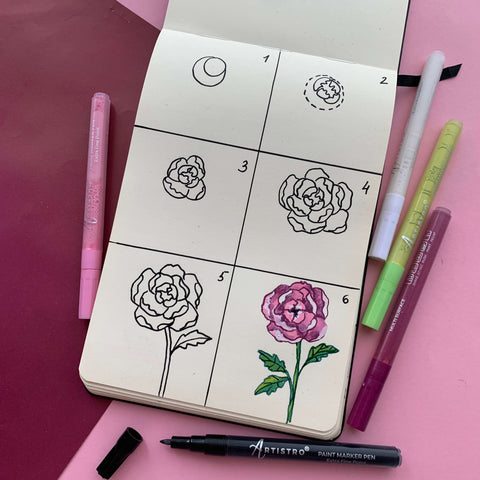 Master class on growing roses drawing